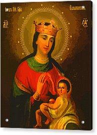 Virgin And Child Acrylic Print by Christian Art