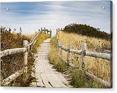 Walkpath To The Beach Acrylic Print by Enrico Della Pietra