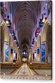 Washington National Cathedral - Washington Dc Acrylic Print by Brendan Reals