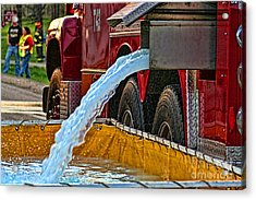 Water Dump Acrylic Print by Tommy Anderson
