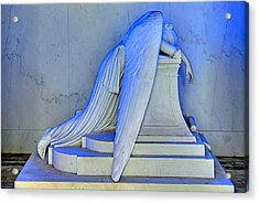 Weeping Angel Acrylic Print by Ellis C Baldwin