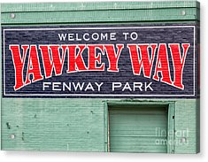 Welcome To Yawkey Way Acrylic Print by Dawna  Moore Photography