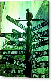 Where To Go Acrylic Print by Cathie Tyler