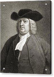William Penn 1644-1718. English Quaker Acrylic Print by Vintage Design Pics