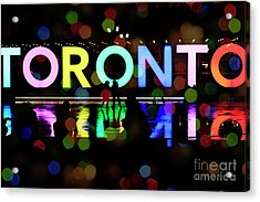 Winter Ice Skating In Toronto Acrylic Print by Charline Xia