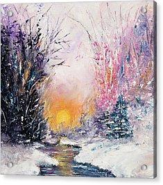 Winter Landscape Acrylic Print by Boyan Dimitrov