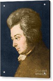 Wolfgang Amadeus Mozart, Austrian Acrylic Print by Omikron