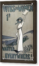 Womens Rights Acrylic Print by Granger