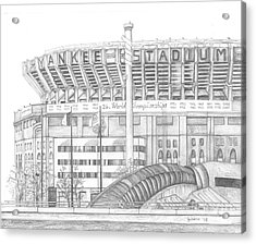 Yankee Stadium Acrylic Print by Juliana Dube