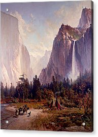 Yosemite Valley  Acrylic Print by Thomas Hill