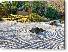 Zen Garden At A Sunny Morning Acrylic Print by Ulrich Schade