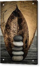 Zen Stones II Acrylic Print by Marco Oliveira