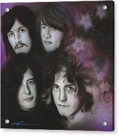 Led Zeppelin - ' Zeppelin ' Acrylic Print by Christian Chapman Art