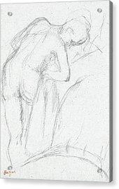 After The Bath Acrylic Print by Edgar Degas