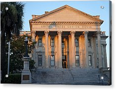 Us Custom House Acrylic Print by Laurie Perry
