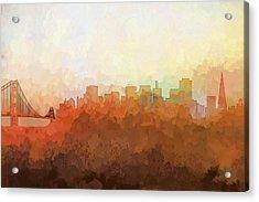 San Francisco California Skyline Acrylic Print by Marlene Watson