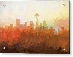 Seattle Washington Skyline Acrylic Print by Marlene Watson