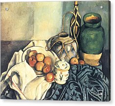 Still Life With Apples Acrylic Print by Paul Cezanne