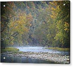 1010-3979 Buffalo River Boxley Valley Fall Acrylic Print by Randy Forrester