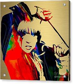 Lady Gaga Collection Acrylic Print by Marvin Blaine