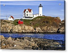 Nubble Lighthouse Acrylic Print by John Greim