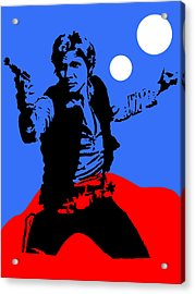 Star Wars Han Solo Collection Acrylic Print by Marvin Blaine