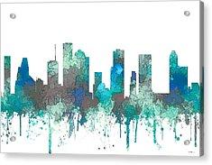 Houston Texas Skyline Acrylic Print by Marlene Watson