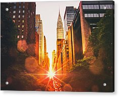 New York City Acrylic Print by Vivienne Gucwa