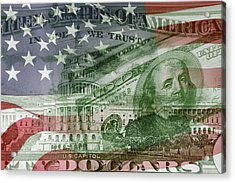 Usa Finance Acrylic Print by Les Cunliffe