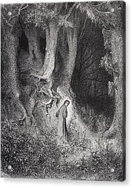 Engraving By Gustave Dore 1832-1883 Acrylic Print by Vintage Design Pics