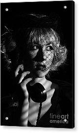 Film Noir Acrylic Print by Amanda And Christopher Elwell