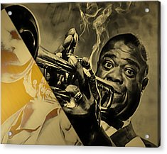 Louis Armstrong Collection Acrylic Print by Marvin Blaine