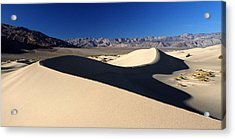 Mesquite Sand Dunes In Death Valley National Park Acrylic Print by Pierre Leclerc Photography