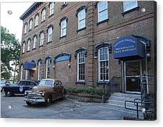 Savannah's Historic Police Department Acrylic Print by Laurie Perry