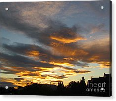 Sunset Acrylic Print by Joyce Woodhouse