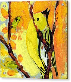 16 Birds No 1 Acrylic Print by Jennifer Lommers