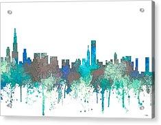 Chicago Illinois Skyline Acrylic Print by Marlene Watson