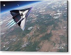Saenger-horus Spaceplane, Artwork Acrylic Print by Detlev van Ravenswaay