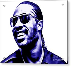 Stevie Wonder Collection Acrylic Print by Marvin Blaine