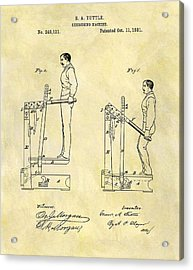 1881 Exercising Machine Patent Acrylic Print by Dan Sproul