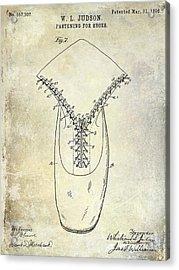 1896 Shoe Patent  Acrylic Print by Jon Neidert