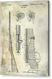 1899 Bolt Gun Patent Acrylic Print by Jon Neidert