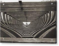 18th Century Brigantine Cargo Ship Frames Acrylic Print by Dustin K Ryan