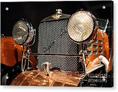 1924 Hispano Suiza Dubonnet Tulipwood . Grille Acrylic Print by Wingsdomain Art and Photography