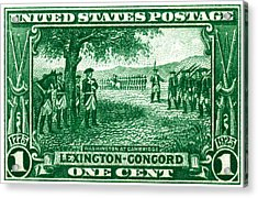 1925 George Washington At Cambridge Stamp Acrylic Print by Historic Image