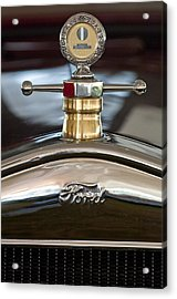 1927 Ford T Roadster Hood Ornament Acrylic Print by Jill Reger
