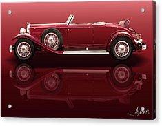 1932 Packard 904 Roadster Acrylic Print by Alain Jamar