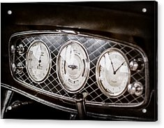 1933 Lincoln Kb Judkins Coupe Dashboard Instrument Panel -0159ac Acrylic Print by Jill Reger