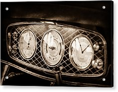1933 Lincoln Kb Judkins Coupe Dashboard Instrument Panel -0159s Acrylic Print by Jill Reger