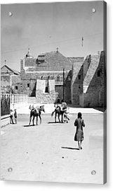 1934 And 1939 Bethlehem Nativity Church  Acrylic Print by Munir Alawi